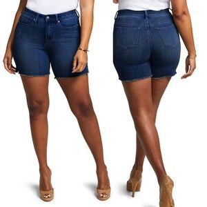 NYDJ Shape Slim Straight Plus Size Shorts Size 28